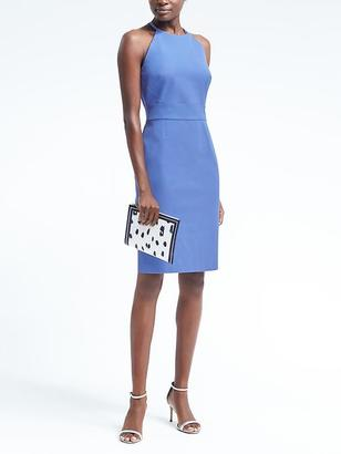 Bi-Stretch Racer-Neck Sheath Dress $138 thestylecure.com