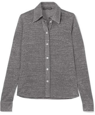 ALEXACHUNG Metallic Stretch-knit Top - Silver