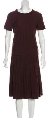 Salvatore Ferragamo Wool Knee-Length Skirt Set