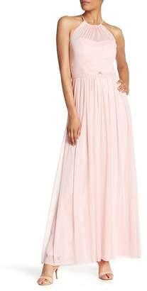 Marina Gathered Halter Neck Dress