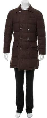 Brunello Cucinelli Wool-Blend Double-Breasted Coat