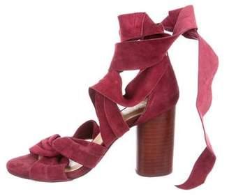 Raye Suede Wrap-Around Sandals