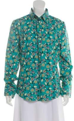 Le Sirenuse Printed Button-Up Top w/ Tags