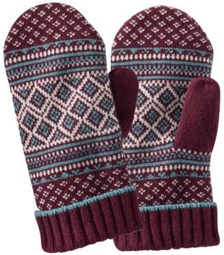 L.L. Bean L.L.Bean Heritage Wool Nordic Mittens, Women's Print