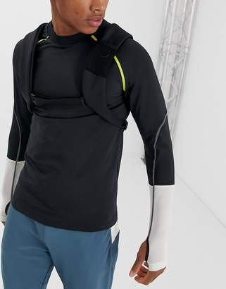 Asos 4505 4505 long sleeve running t-shirt with thumbholes and tape detail