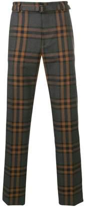 Bottega Veneta checked straight-leg trousers