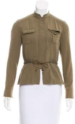 Magaschoni Silk-Blend Collarless Jacket