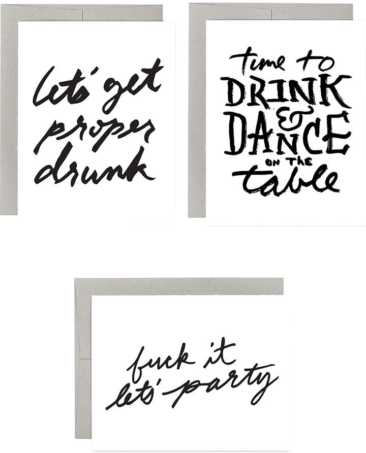 'Drink & Dance' Greeting Card Set