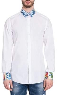 Dolce & Gabbana Majolica Collar Shirt