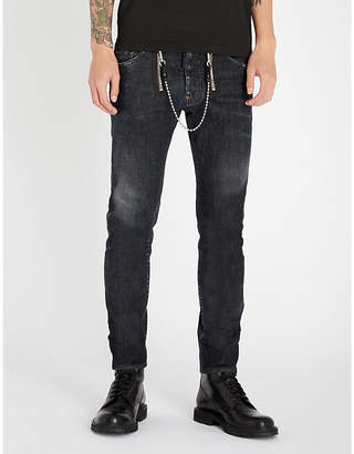 DSQUARED2 Skater ripped slim-fit skinny jeans