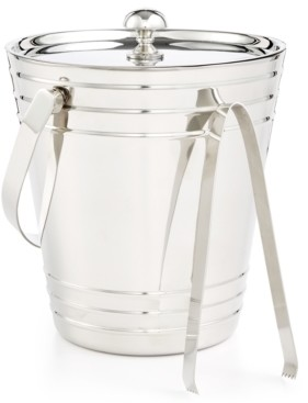Martha Stewart Collection Ice Bucket with Tongs, Created for Macy's