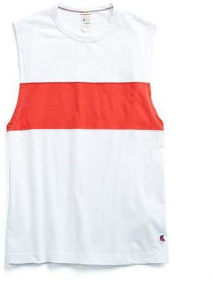 Todd Snyder + Champion Colorblock Muscle Tank in Red