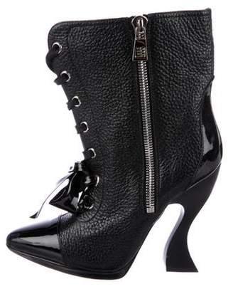 Loewe Pebble Leather Booties