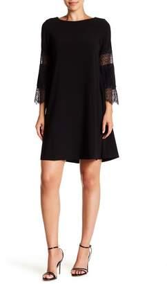 Gabby Skye 3/4 Lace Inset Sleeve A-Line Dress