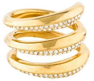 Michael Kors Crystal Tribal Coil Ring