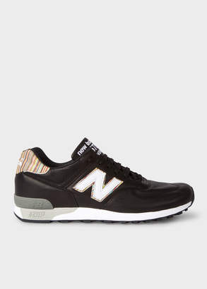 Paul Smith New Balance + Men's Black Leather 576 Trainers