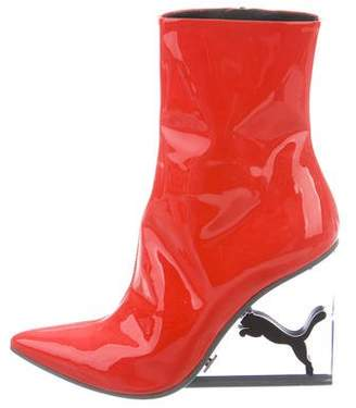 c4cda4a9f819 Pre-Owned at TheRealReal · FENTY PUMA by Rihanna 2018 Cat Patent Leather Ankle  Boots w  Tags