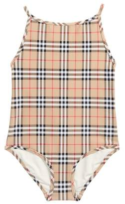 Burberry Sandie Check One-Piece Swimsuit