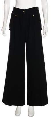 Givenchy High-Rise Wide-Leg Pants