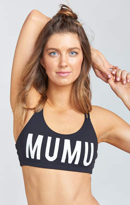 Show Me Your Mumu Cleopatra Bra ~ White Mumu Graphic