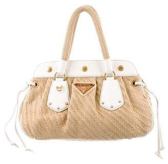f2491c866c Pre-Owned at TheRealReal · Prada Leather-Trim Woven Bag