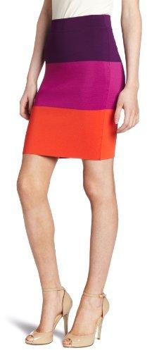 BCBGMAXAZRIA Women's Scarlett Block Stripe Skirt