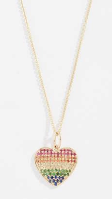 Sydney Evan 14k Rainbow Heart Necklace