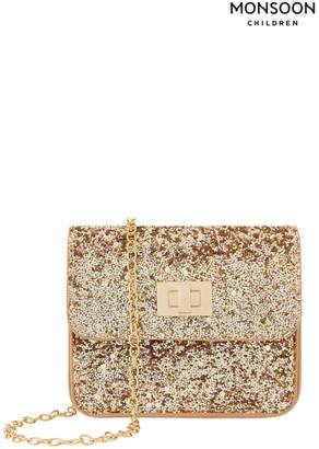 Monsoon Girls Pink Sparkle Frosting Mini Bag - Gold