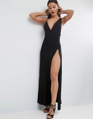 ASOS Super Thigh Split Maxi Dress $43 thestylecure.com