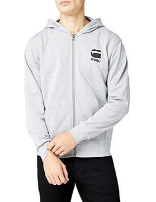 G Star Men's Doax Hooded Zip Thru Sw L/s Hoodie Grey HTR 906