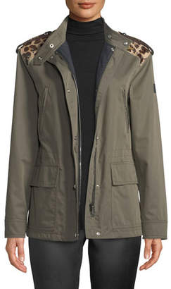 Belstaff Mosaic Fairclough Jacket w/ Leather Shoulders