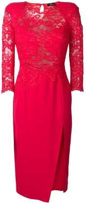 Elisabetta Franchi lace-detail midi dress