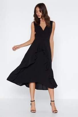 Nasty Gal All Ruffled Up Midi Dress