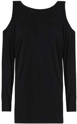 Bailey 44 Cold-Shoulder Mélange Stretch-Jersey Top