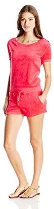 Juicy Couture Black Label Women's Logo Velour Marrakech Cameo Romper $248 thestylecure.com