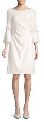 Eliza J Embellished Bell-Sleeve Sheath Dress