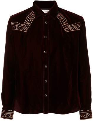 Saint Laurent embroidered western-style shirt