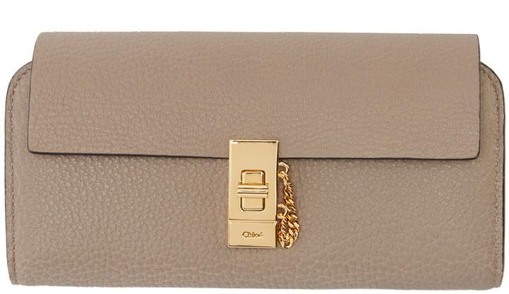 Chloé Chloé Grey Drew Flap Wallet