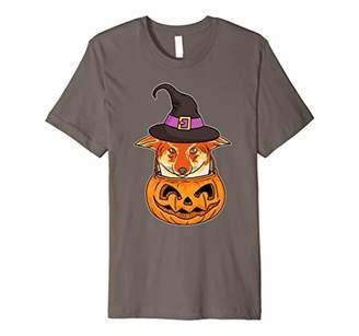 Corgi Halloween Witch T Shirt Mom Dad Pumpkin Tee