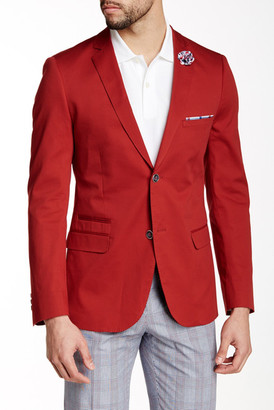 Paisley & Gray Red Woven Two Button Notch Lapel Slim Fit Blazer $99.97 thestylecure.com