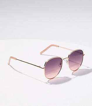 LOFT Metallic Round Sunglasses