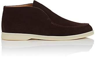 Loro Piana Men's Suede Laceless Chukka Boots - Dk. brown