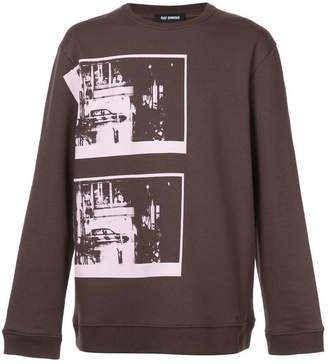 Raf Simons long sleeved photographic pullover