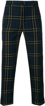 Joseph plaid tailored trousers