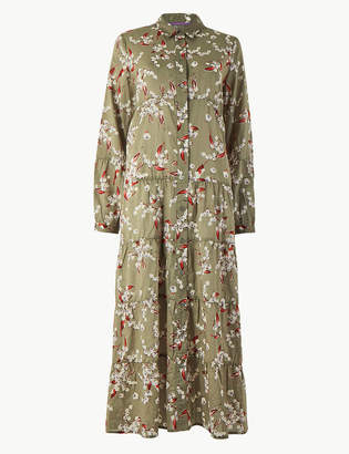 Per Una Per UnaMarks and Spencer Floral Relaxed Fit Maxi Shirt Dress