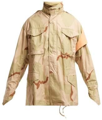 BEIGE Myar - Camouflage Print Cotton Blend Jacket - Womens Multi