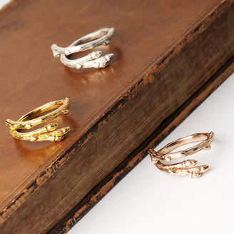 Grace & Valour Twig Wrap Ring On A Customisable Gift Card