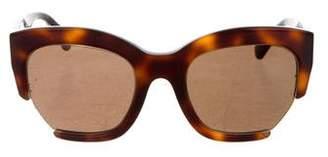 Calvin Klein Collection Tortoiseshell Geometric Sunglasses