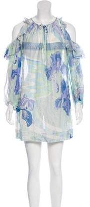 Emilio Pucci Floral Long Sleeve Dress w/ Tags
