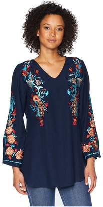 Scully Becca Embroidered Blouse Women's Clothing